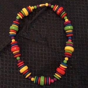 Avon Chunky Bead Multicolor Necklace
